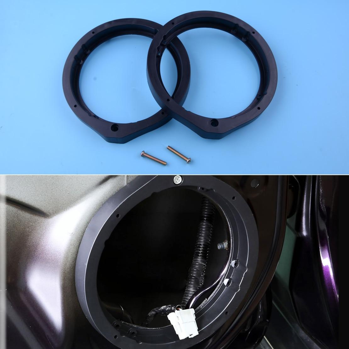 """CITALL negro 2 uds adaptador de altavoz 6,5 """"/6,75"""" 165mm ajuste para Honda Civic Accord Crosstour CR-Z Insight"""