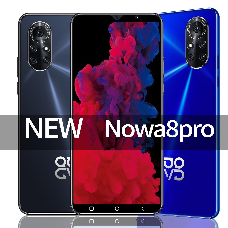 Nowa8 pro 6.0 Inrinity -o شاشة الهاتف الذكي 5G 16 + 32 ميجابكسل 8 + 256GB 6800na أندرويد 10 معرف الوجه بصمة معرف Android10 المزدوج سيم + هيئة التصنيع العسكري