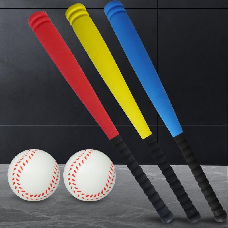 Children's Baseball Bat Soft Sponge Plastic Kindergarten Softball Bat Toy Rubber Props Training