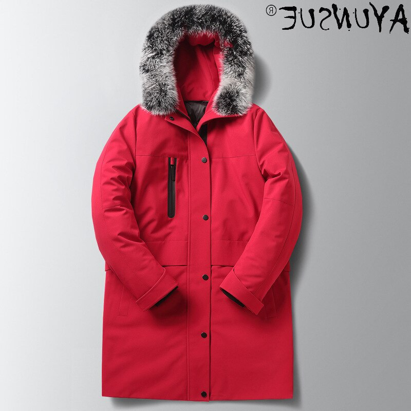 Winter Men's Jackets Down Jacket Hooded Clothing Thick Clothes Real Fox Fur Collar Coat Warm Parkas