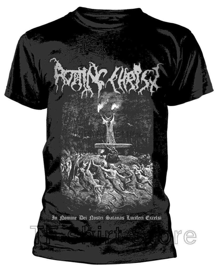 Divertido los hombres T camisa camiseta guay de mujer Rotting Christ In Nomine Dei Nostri camiseta