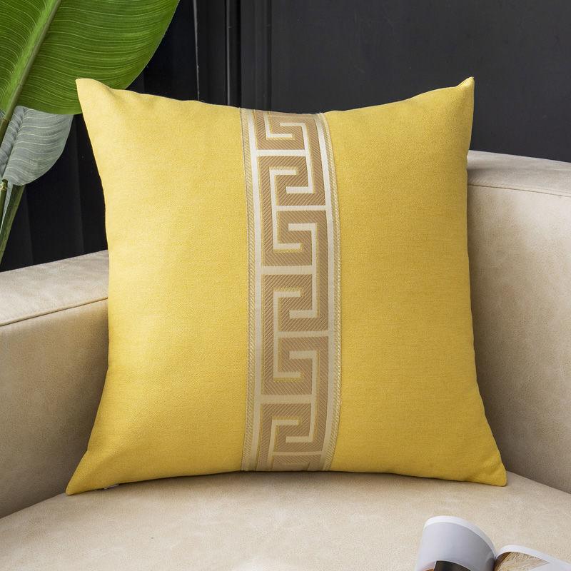 Чехол для подушки Fyjafon 60x60, льняной дышащий чехол для подушки, декоративный чехол для подушки с краями, синий желтый чехол для подушки s 50x5 0/40*... чехол