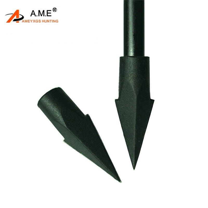 Puntas de tiro con arco, 12 Uds., punta de flecha con punta de goma para práctica de tiro, puntas de punta para campo de 8,5mm, accesorios para flechas de madera de bambú