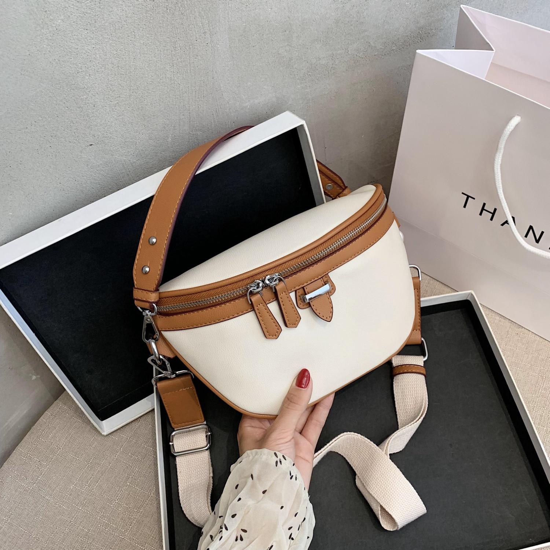 Casual High Quality PU Leather Waist Bags For Women 2020 Zipper Shoulder Messenger Bag Lady Chest Crossbody Women Handbags