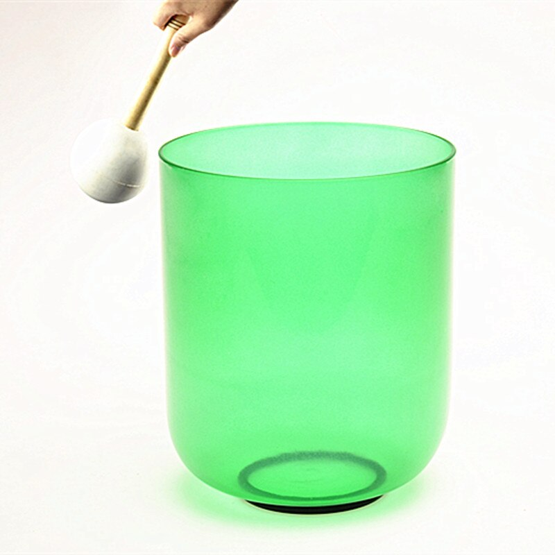 "Topfund cor verde claro f # nota thymus chakra cristal de quartzo cantando tigela 6"""