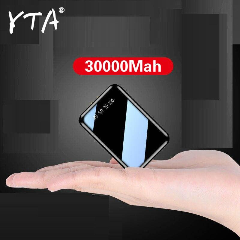Mini banco de energía de 30000mAh, cargador portátil USB, paquete de batería externa para Xiaomi mi 8, iPhone 11 pro, Samsung S8, Poverbank