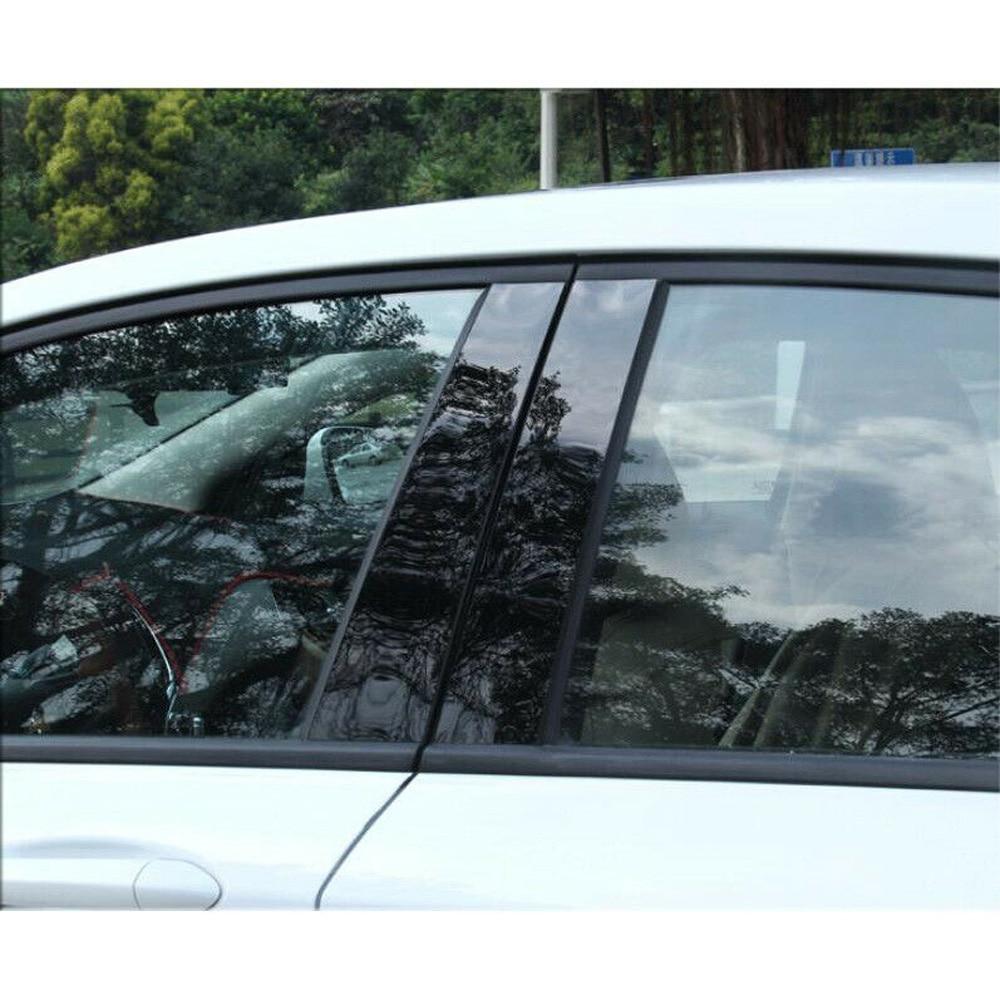 6 uds., postes de Pilar negro para coche, cubiertas de molduras para puerta y ventana para Mazda 6 2004-2015