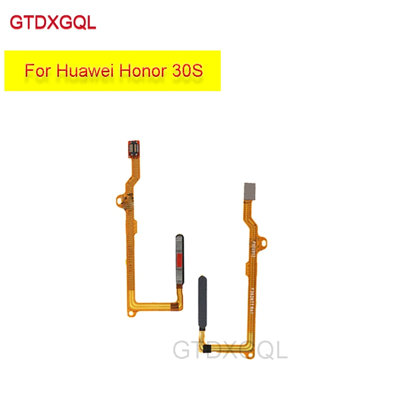 new-fingerprint-sensor-connector-home-button-touch-id-for-huawei-honor-30s-flex-cable-replacement-repair-parts