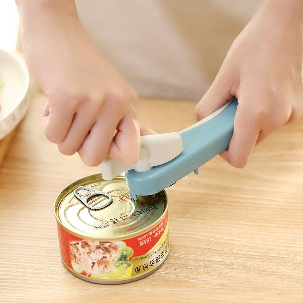 Япония Регулируемый консервный нож безопасный легкий алюминиевый сплав консервный нож качество с поворотной ручкой бытовой кухонный откр...