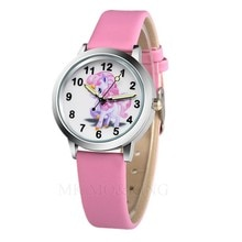 New Arrival High Quality Students Unicorn Horse Pattern Kids Girl Gift Children Quartz Fashion Watch