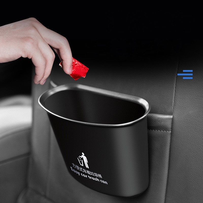 High Quality Car Trash Can Multifunctional Storage Finishing Bucket Auto Universal Hanging Bucket St