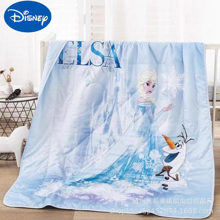 Original Disney cartoon princess Xia Liang quilt for children room air conditioning lunch break quilt Girl school nap thin quilt