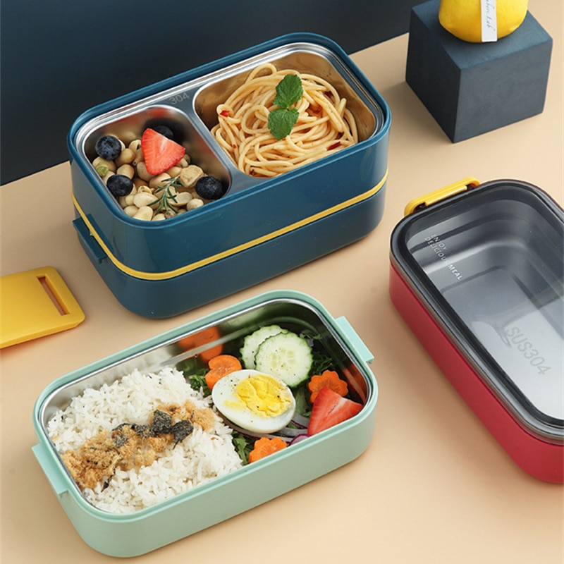 Nordic 304 Stainless Steel Insulated Lunch Box Student Office Worker Separable Multi-Layer Portable