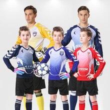 Maillot de football pour hommes maillot de football pour enfants à manches longues chemises de gardien de but maillots de gardien de but à manches courtes pour hommes