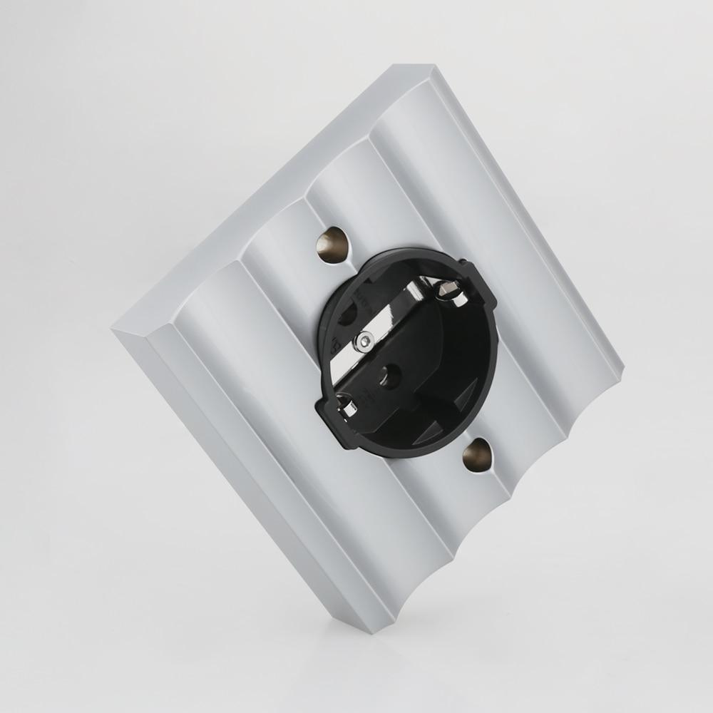 Viburg-مقبس الحائط الكهربائي Schuko ، نحاسي نقي ، روديوم ، VE02R