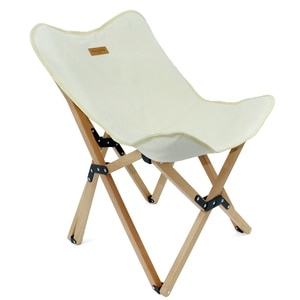 Portable Wooden Beach Chair Butterfly Chair Camping Folding Outdoor Chair for Hiking BBQ Beach Traveling Picnic with Storage Bag