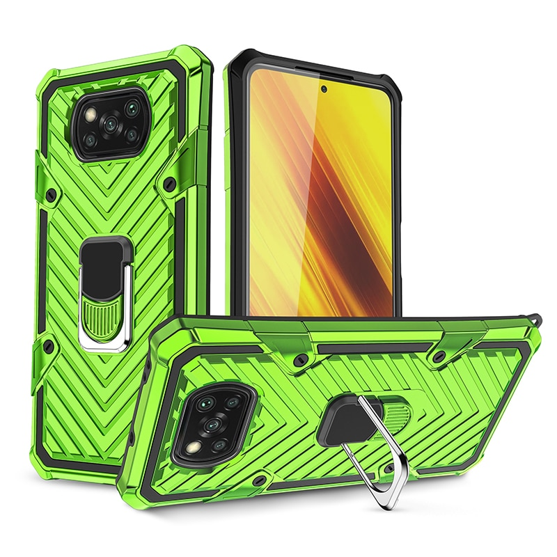 New Lightning Case For Xiaomi Poco X3 NFC Cases Rugged Hybrid Armor Cover for Pocophone X3 Pocco 2020 TPU + PC Shell (XY1113)