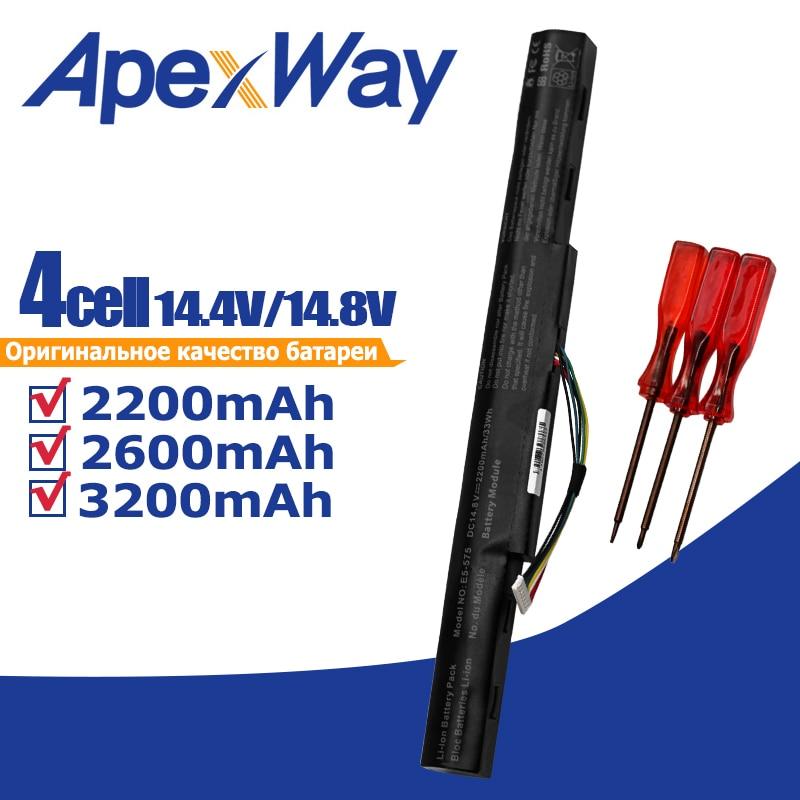 Apexway 4 خلايا بطارية كمبيوتر محمول لشركة أيسر أسباير E5-475G E5-476G E5-553G E5-575G E5-576G E5-774 AS16A5K AS16A7K AS16A8K
