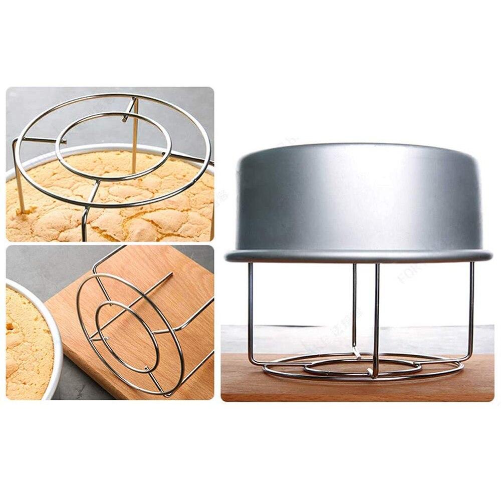 Rejilla de enfriamiento redonda de acero inoxidable para hornear, rejilla de enfriamiento galletitas y bizcochos, bandeja de pan, Red de secado de postres