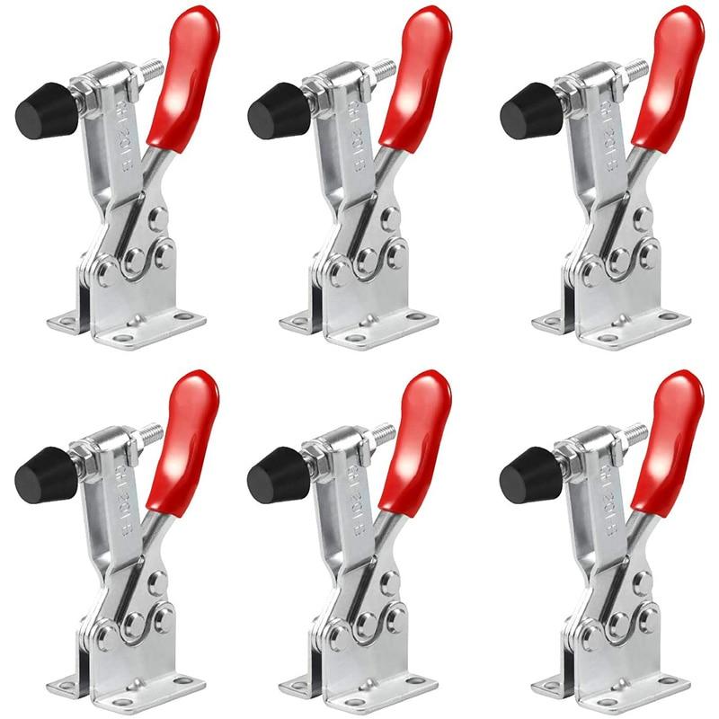 Hand Tool Toggle Latch Clamp,Horizontal Clamp Horizontal Quick Release Toggle Clamp (6 PCS 201B)
