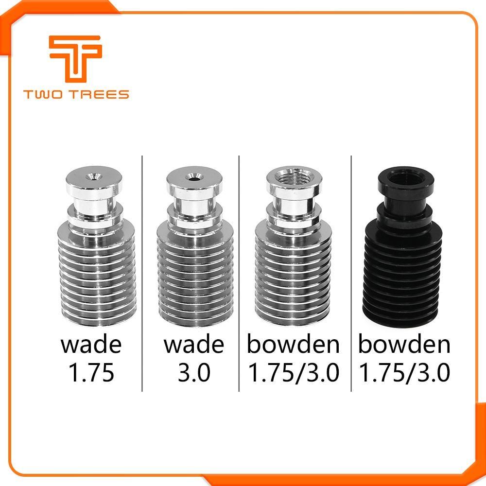 Радиатор прямая нить Боуден для V6 J-head Wade экструдер 1,75 мм/3,0 мм 3D принтеры запчасти аксессуары короткое большое расстояние