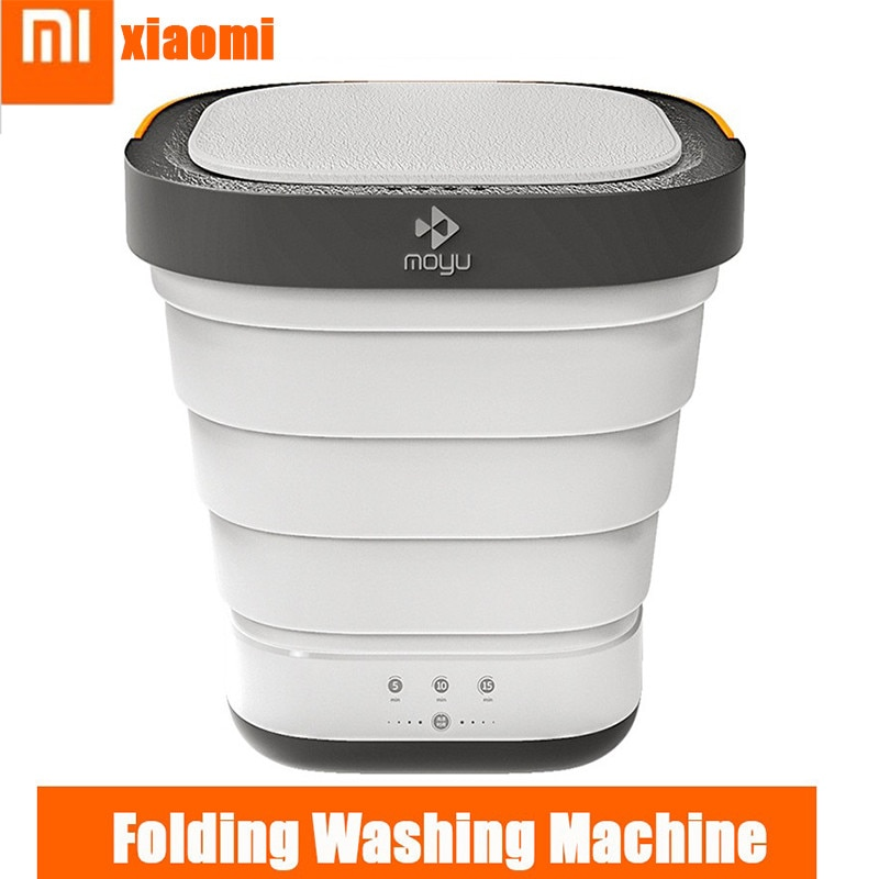 Xiaomi Portable 220V Folding Clothes Washing Machine Bucket Home Travel Self-driving Tour Underwear Mini Foldable Washer