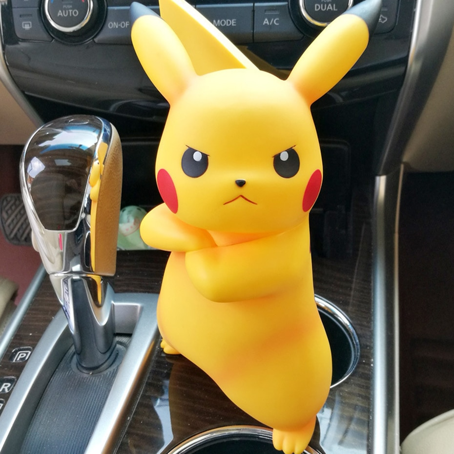 18cm Cute Angry Pikachu PVC Action Figure Anime Cartoon Pokemon Figurine Collection Model Kids Toys Christmas Birthday Gifts
