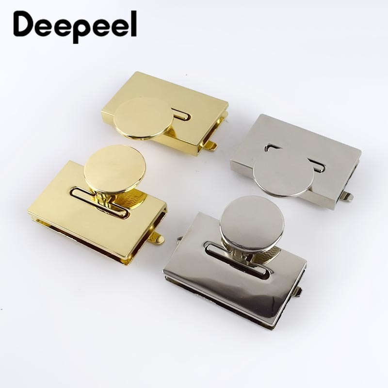 osmond alloy tone turn locks snap clasps closure buckle for bags accessories diy handbags purse alloy button replacement lock 10Pcs Deepeel 42x29mm Handbag Twist Turn Lock DIY Latch for Bags Metal Locks Purse Snap Clasp Closure Hardware Accessories BF160