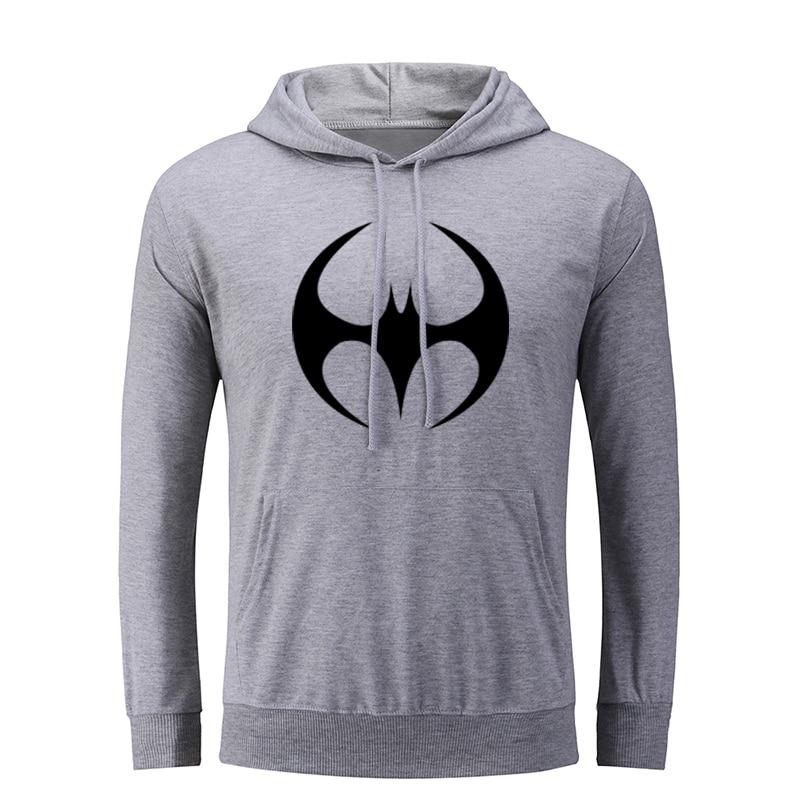 Dc super-herói bruce wayne batman hoodie i love my great dane men gráfico sweatshirt cordas com capuz pulôver presente de natal