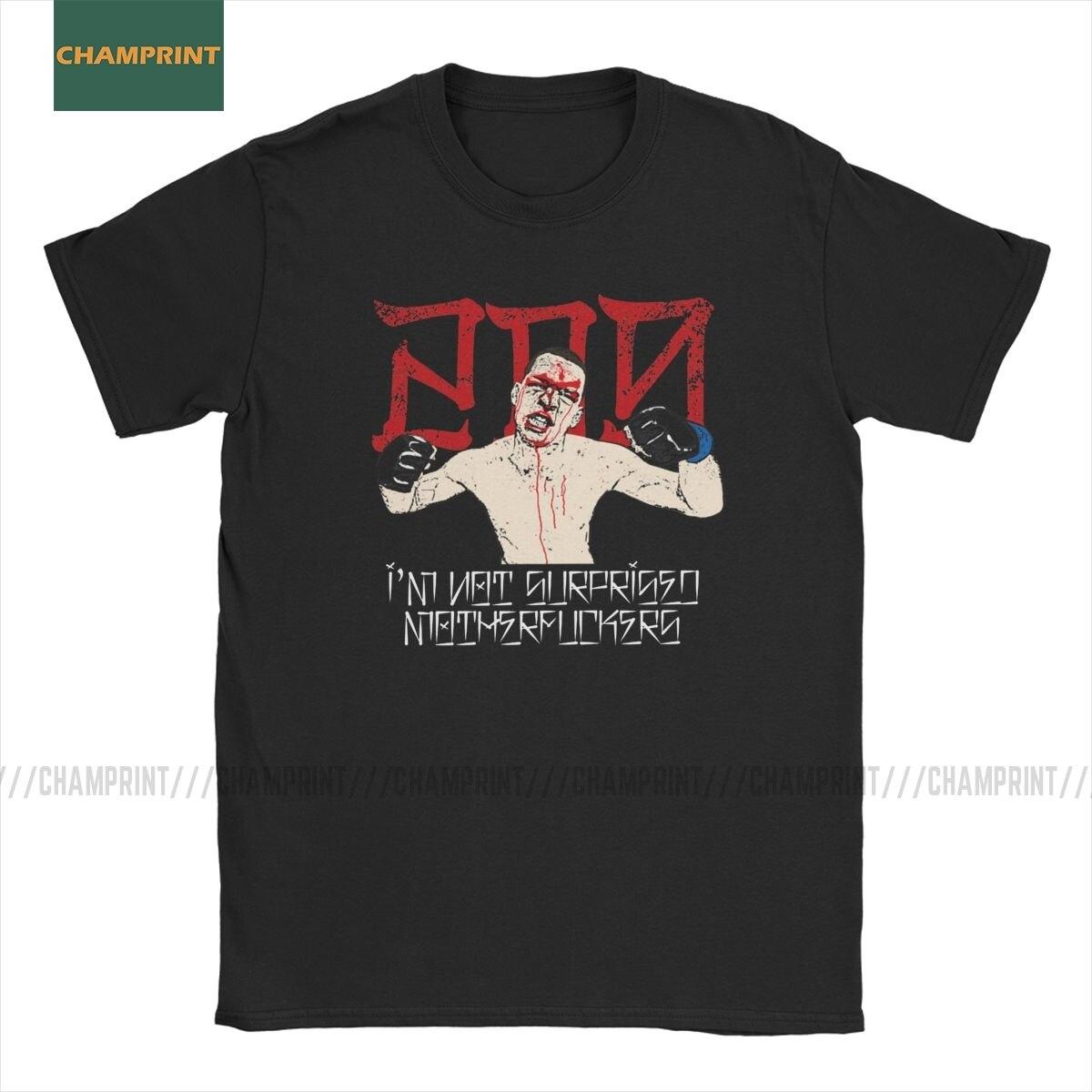 Hombres camiseta no me sorprende Nate Diaz camisetas de algodón de manga corta MMA deporte Stockton hermanos boxeo T camisas Tops de cuello redondo