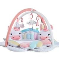 cartoon unicorn pedal piano music baby playmat baby gym kids rugs crawling mat kids carpet toys for toddler boys plush dolls toy