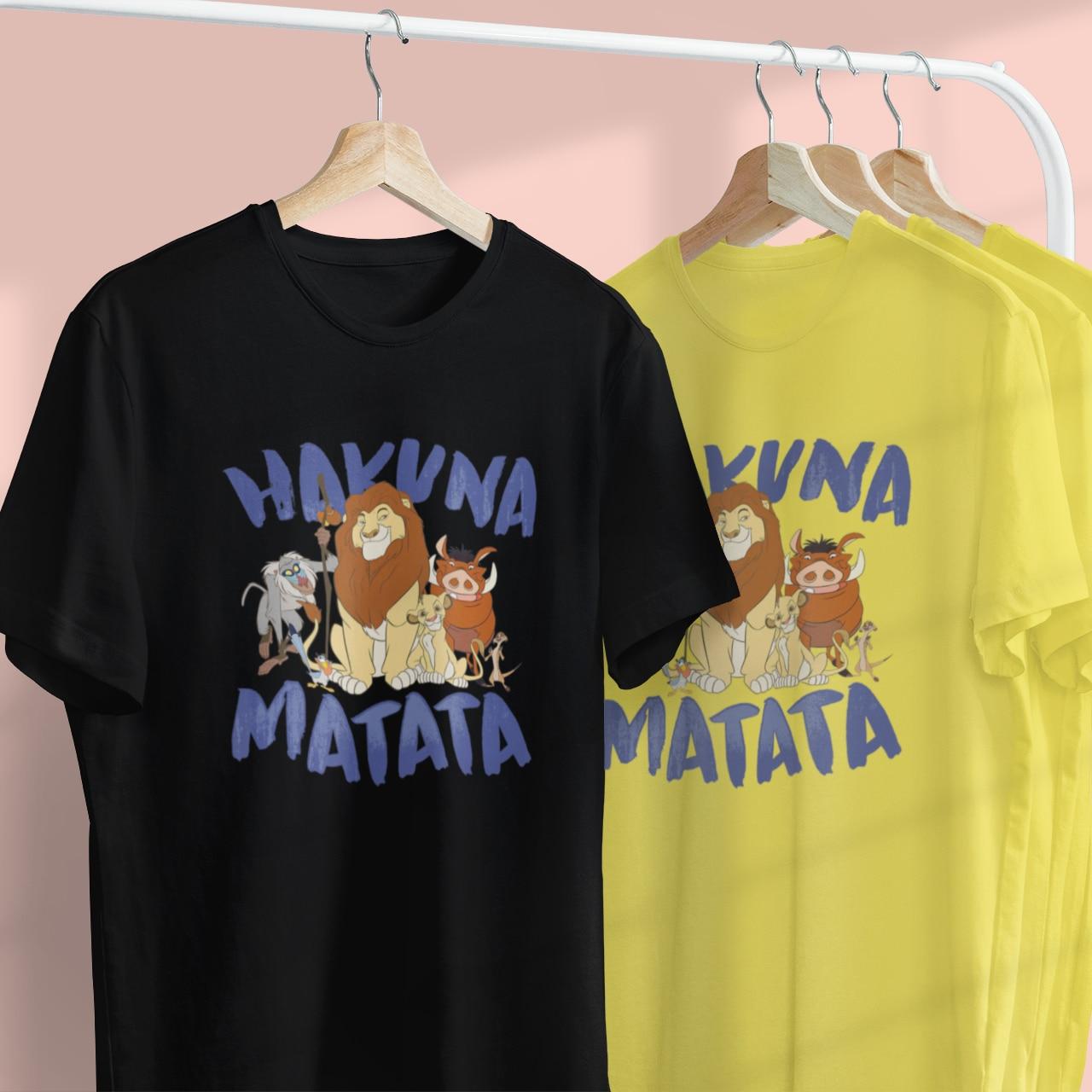 5 Colors HAKUNA MATATA Women T-shirt Summer Cute The Lion King Print Funny Casual Female Tshirt Tees Disney Tops