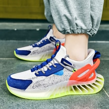 Mens Comfortable Breathable Sports Shoes Non Slip Lace Up Running Shoes Outdoor Fashion Wear-resista