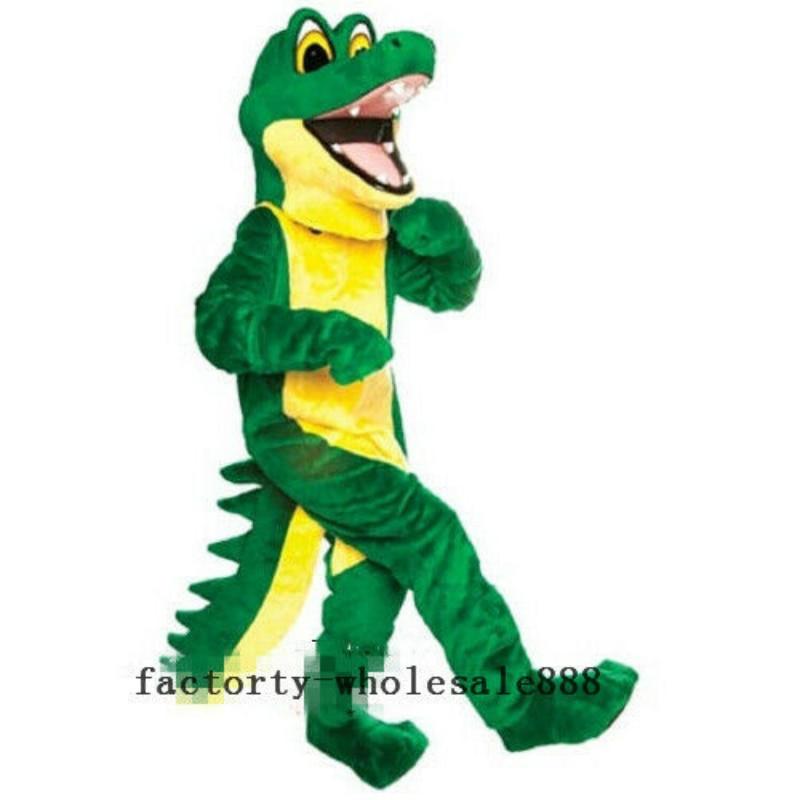 زي التمساح الأخضر ، زي أفخم ، تأثيري ، للبالغين ، ملابس الأداء المسرحي لحفلات أعياد الميلاد