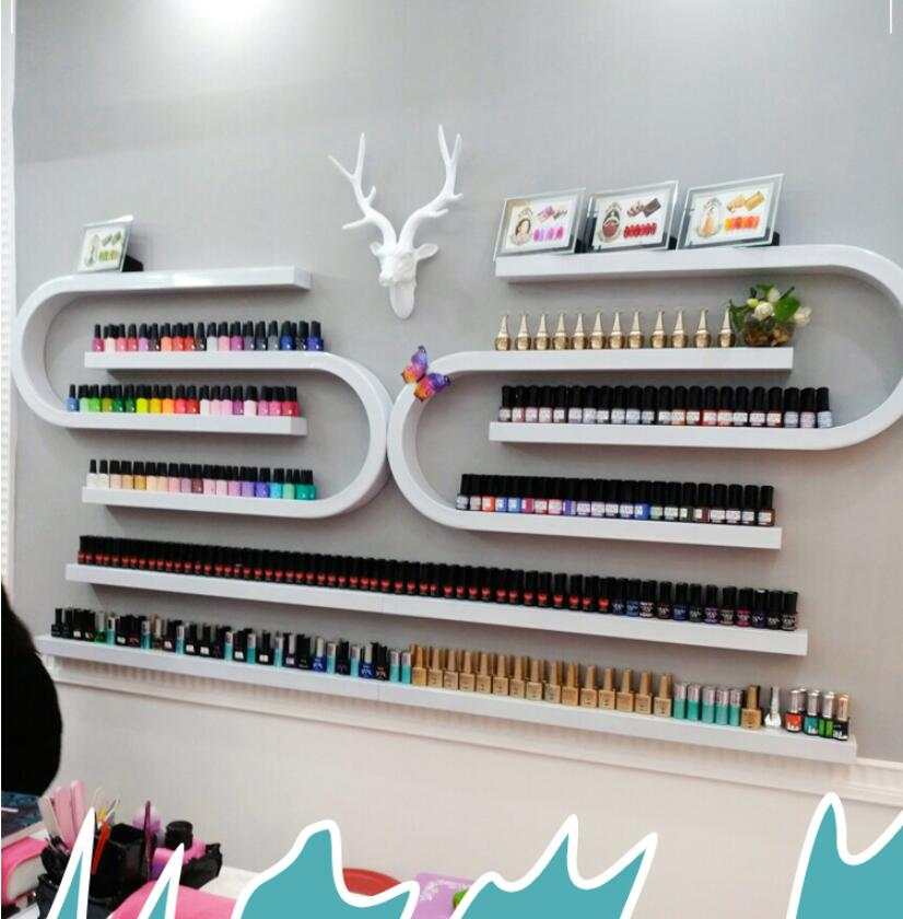 Manicure shop display rack, nail polish, rack, wall hanging rack, U nail polish, iron art.