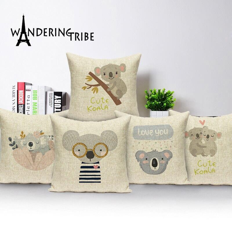 Funda de cojín de animales de Marruecos, funda de cojín con dibujo de ratón bonito para decoración del hogar, fundas de almohada impresas, fundas de almohada de animales, Cojines