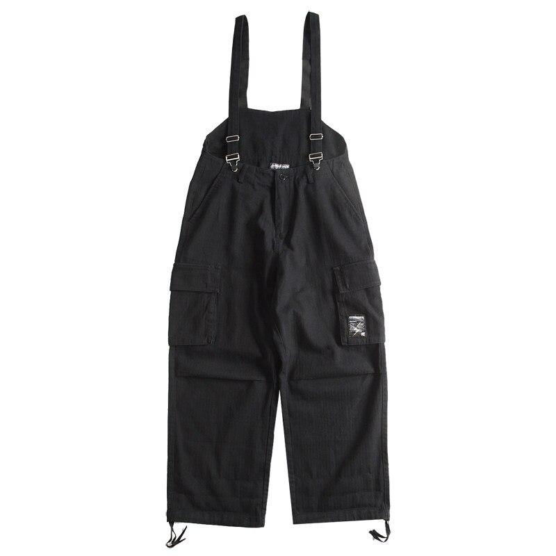 Pantalones con tirantes para hombres ropa de calle y monos y pantalones...