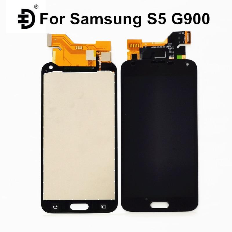 Pantalla LCD de 5,1 pulgadas para Samsung Galaxy S5 G900F pantalla LCD pantalla táctil digitalizador para Samsung S5 G900H LCD reemplazo