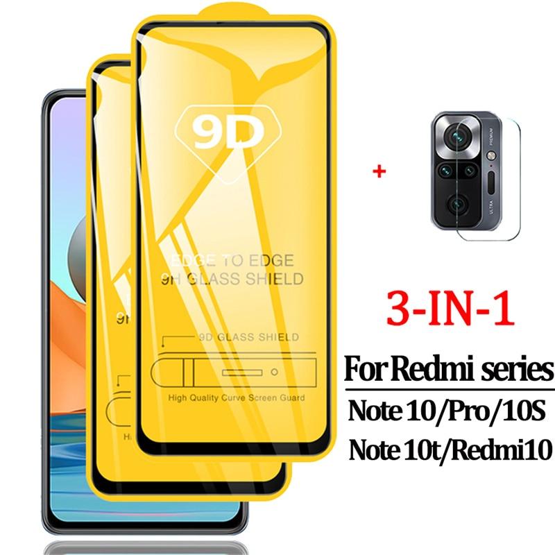 Note10 Glass, Redmi-Note-10 S Glass for Xiaomi Redmi Note 10 Pro Tempered Glass Redmi Note10 Pro Protective Glass Film Xiaomi Note 10 Pro Redmi Note 10 10T 5G 10S Redmi10 Screen Protector Redmi Note10 Pro Glass