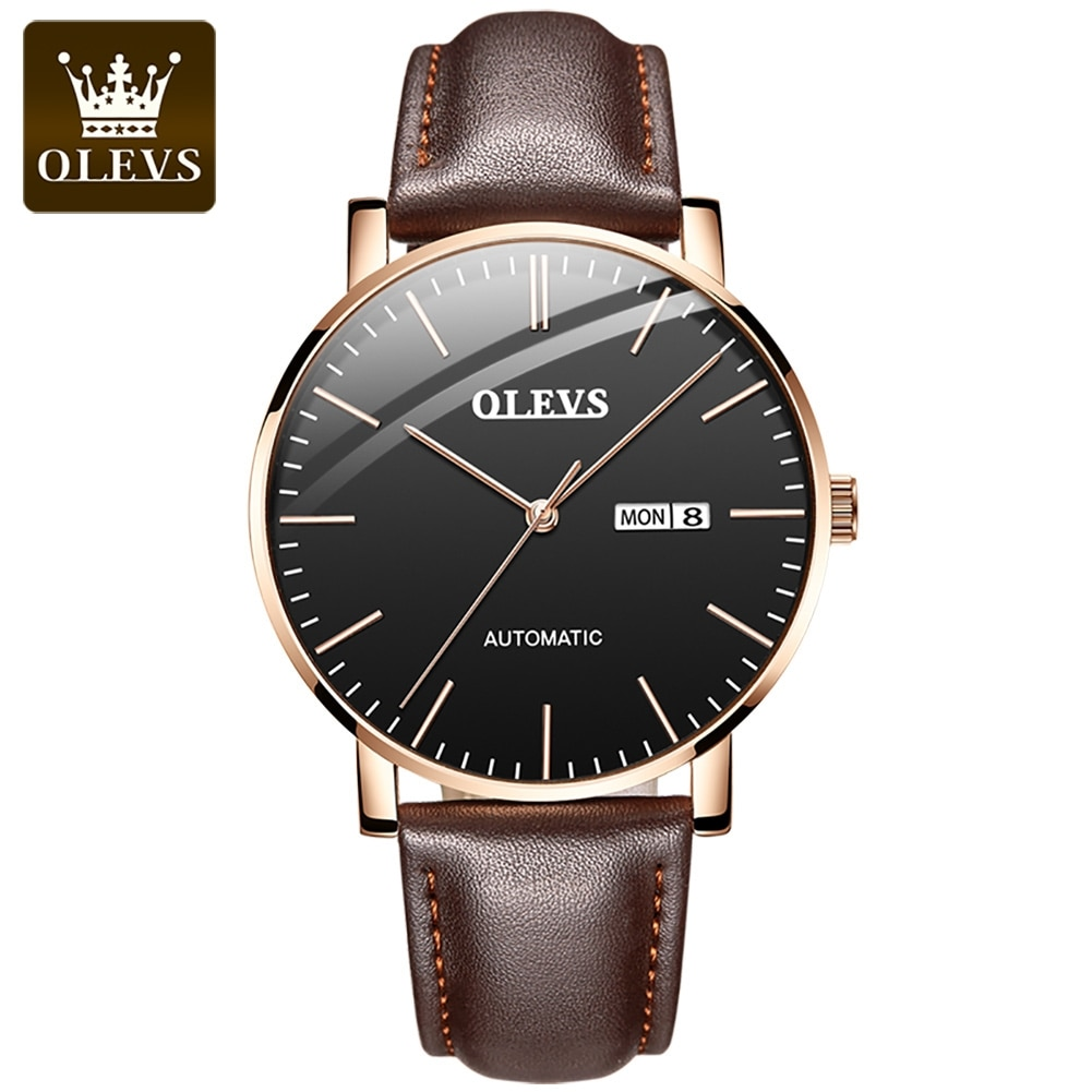 OLEVS Men's Watches Automatic Movement Watch for Men Top Brand Luxury Fashion Business Waterproof Sp