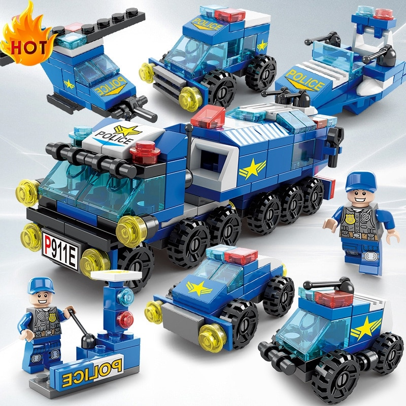 Supply 6-in-1 Scene Building Blocks Small Particles Children's Toys Boys and Girls Hot Sale Wholesale Assembling Early Education