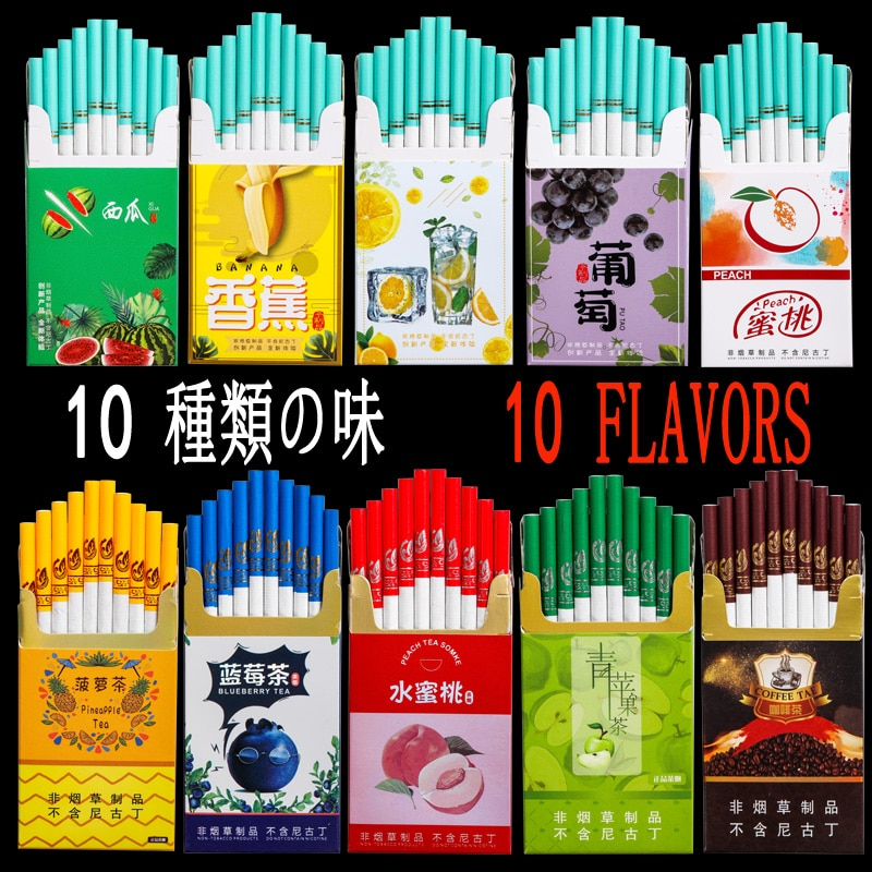 Hot Selling Tea Smoke Fruit Mixed Flavor Men and Women Health Cigarettes Do Not Contain Nicotine No Tobacco недорого