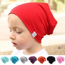 Chapeaux en coton tricotés en couleur automne hiver   Couvre-oreilles chauds et mignons à la mode, chapeaux à couronne colorés pour bébés enfants