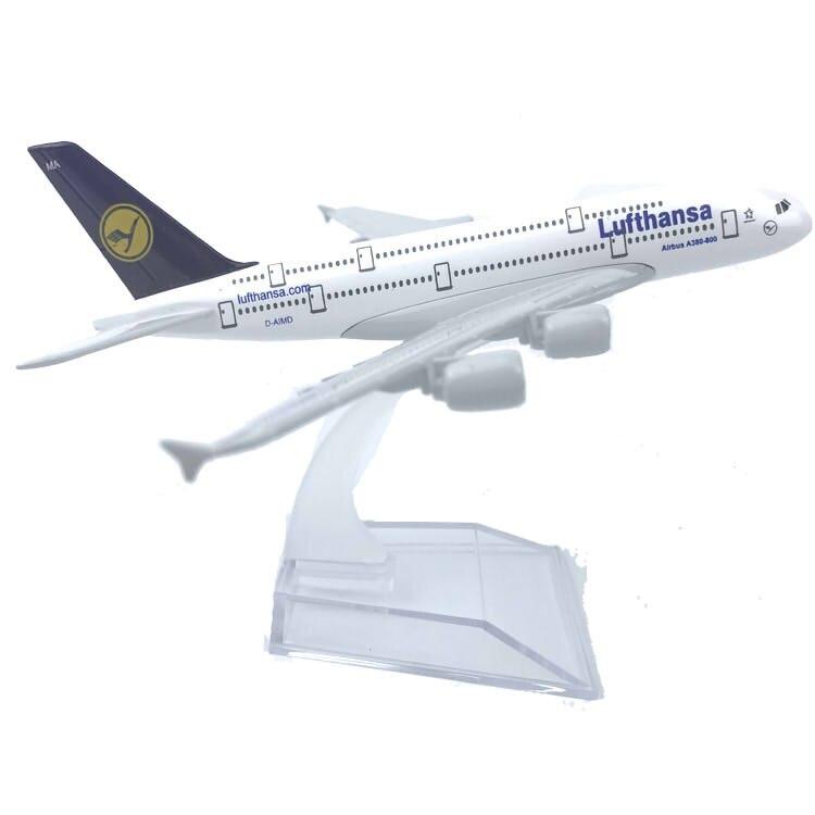 Lufthansa-modelo de avión aéreo A380 de Alemania, avión fundido a presión de...
