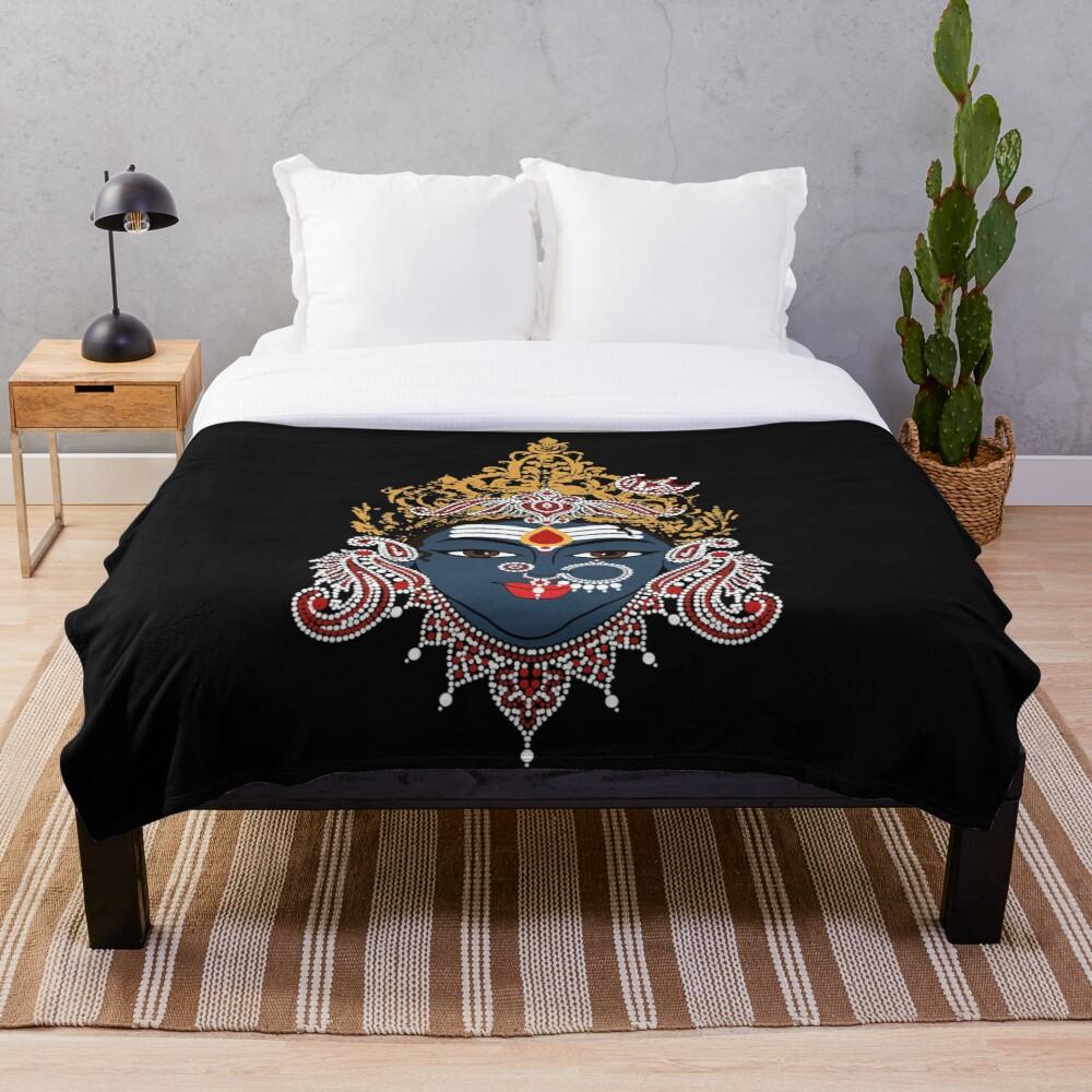 Manta de lana de franela Diosa Kali, colcha de felpa para oficina, manta de Sherpa, colcha de viaje
