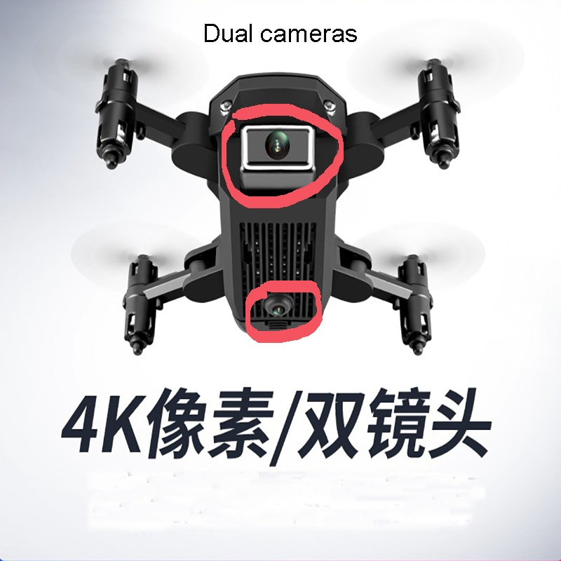 Mini RC foldable MINI drone 4K HD dual camera WiFi VR FPV Air Pressure Altitude Hold Foldable Quadcopter RC Drone Kid Toy GIft enlarge
