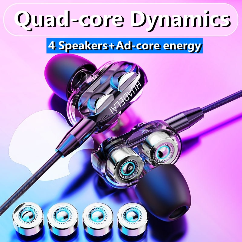 Sport Earphone Wired Super Bass Earphones Earbud with Built-in Microphone Headset Headphones Audifon