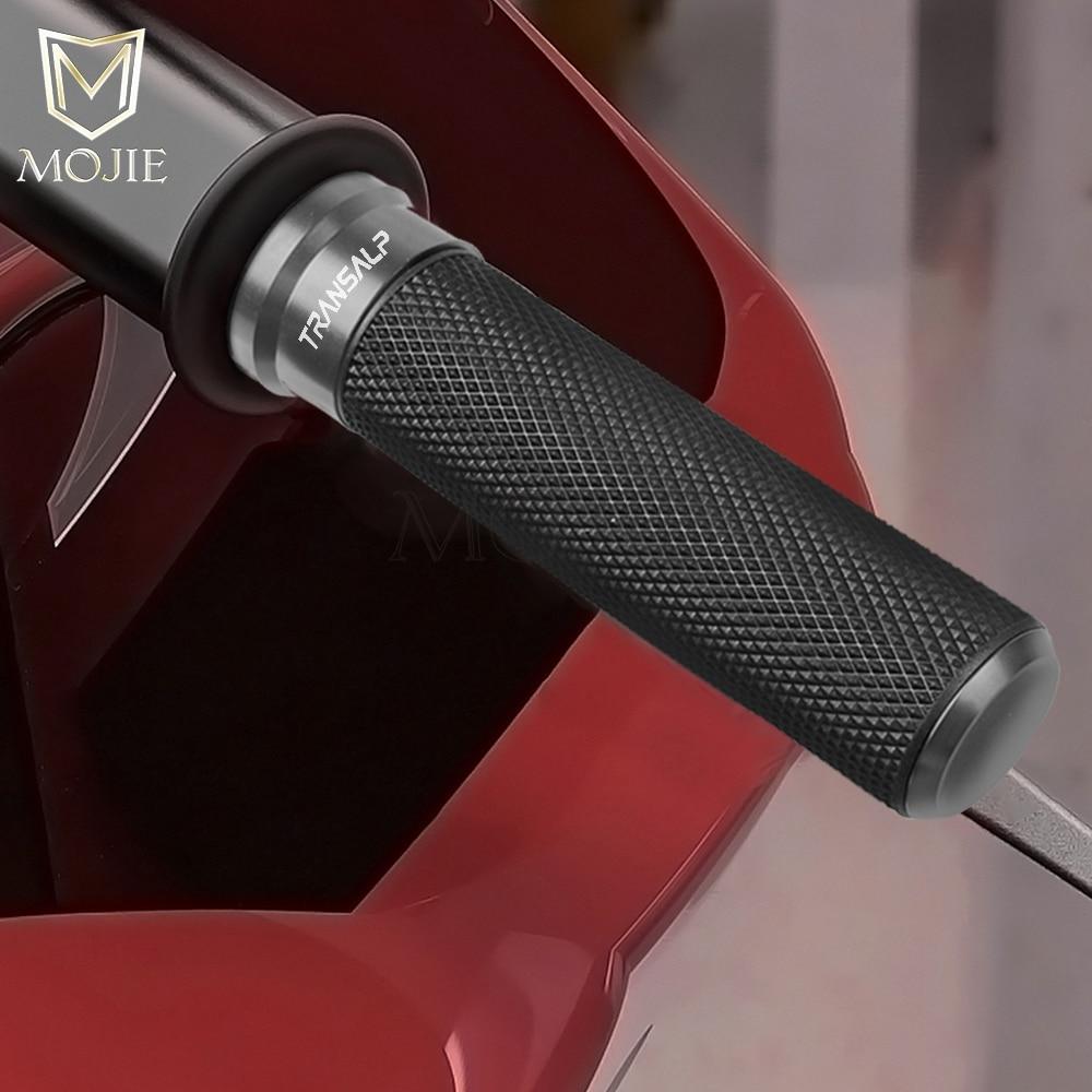 "For Honda TRANSALP 600 XL700V 700 XL 650 VY/V1-V7 Transalp 7/8"" 22MM Motorcycle Handle Bar Handlebar Grips Scooter Cover End"