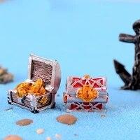 treasure box pirate gold coin micro landscape sand table decoration antique creative fish tank aquarium decoration resin crafts