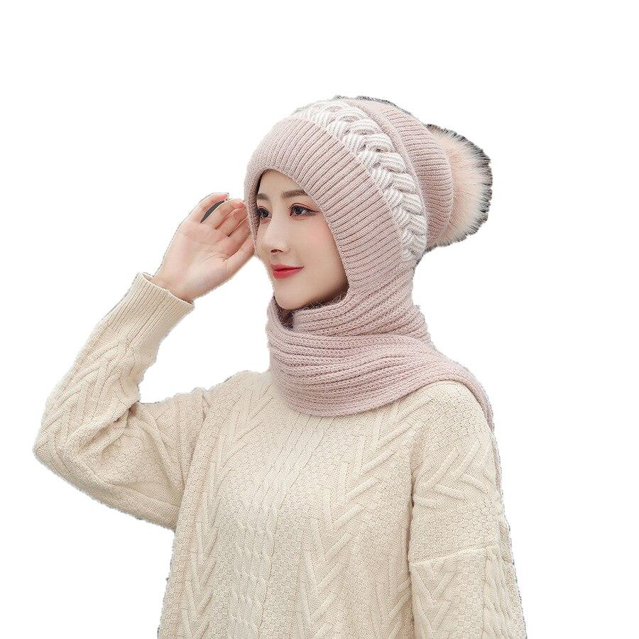Женские осенне-зимние шапки, облегающие шапки, мягкие теплые шерстяные вязаные шапки в Корейском стиле для девушек, с круглой петлей, женска...